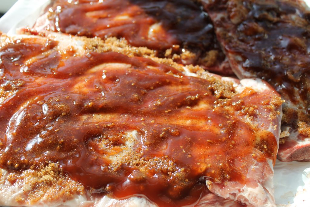 Spices and BBQ sauce