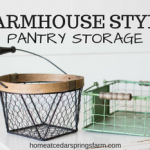 Farmhouse Style Pantry Storage