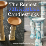 The Easiest Farmhouse Candlesticks You Can Make