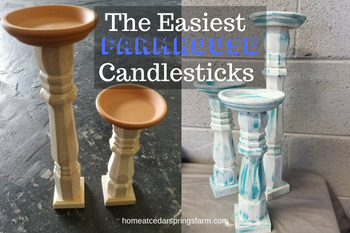 The Easiest Farmhouse Candlesticks
