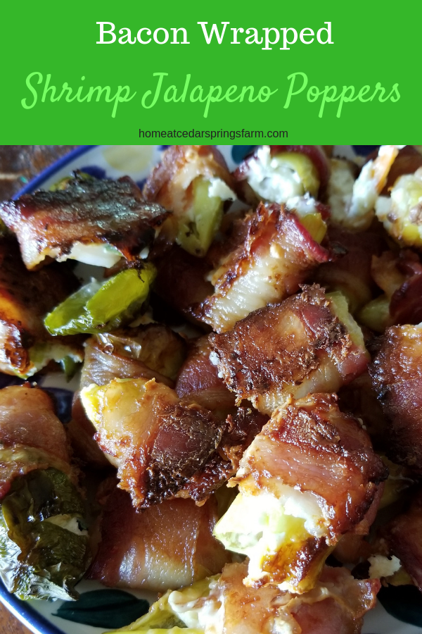 Bacon Wrapped Shrimp Jalapeno Poppers