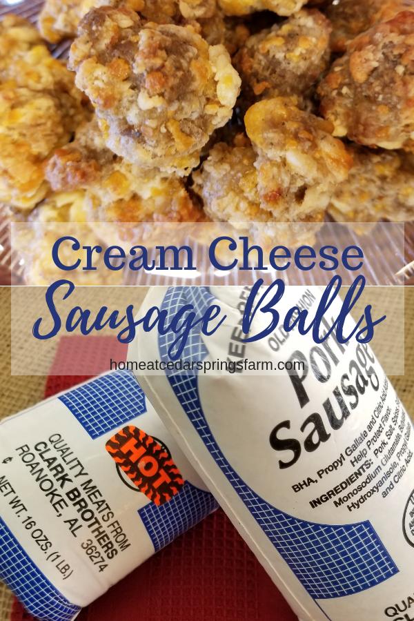 Cream Cheese Sausage Balls #creamcheesesausageballs #sausageballs #bestanytimeappetizer