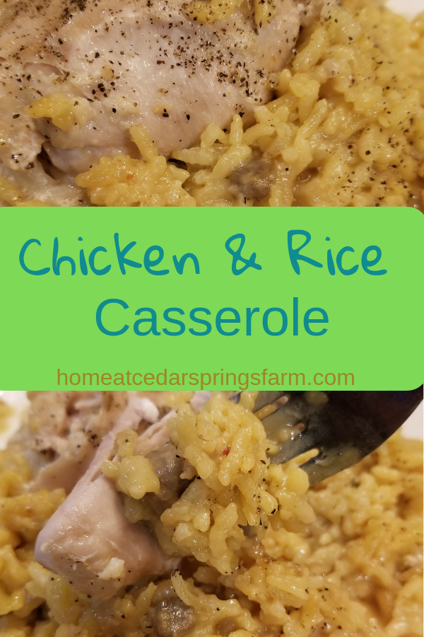 Chicken and Rice Casserole #chickenandrice #dinner #chickenandricecasserole #casserole