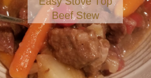 Easy Stove Top Beef Stew