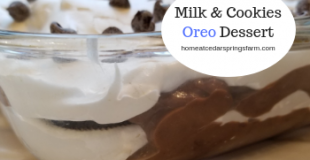 Milk and Cookies Oreo Dessert