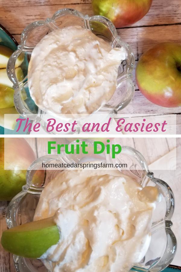The Best and Easiest Fruit Dip #fruitdip #bestandeasiestfruitdip #partydip