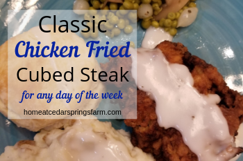 Classic Chicken Fried Cubed Steak