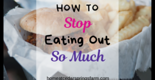 How to Stop Eating Out So Much