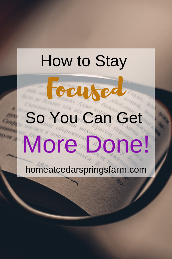 Do you need help staying focused? Are you having troule trying to get everything done because you are easily distracted? These tips are great for helping you to stay focused so you can get more done. Try them today.