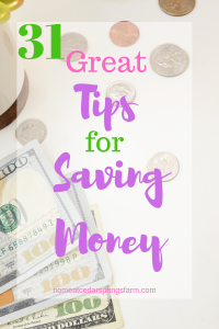 31 Great Tips for Saving Money