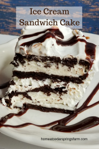 Ice Cream Sandwich Cake #icecream #dessert #icecreamsandwichcake #chocolateicecreamcake