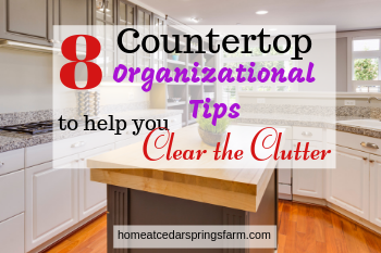 Countertop Organizational Tips #kitchentips #organizationaltips #cleartheclutter