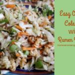 Easy Oriental Coleslaw with Ramen Noodles
