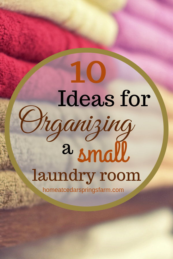 Ideas for organizing a small laundry room