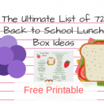 The Ultimate List of 72 Back To School Lunch Box Ideas