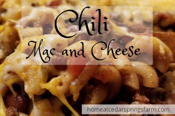 chili mac and cheese