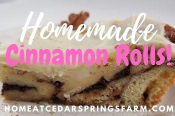 Homemade Cinnamon Rolls - Home at Cedar Springs Farm