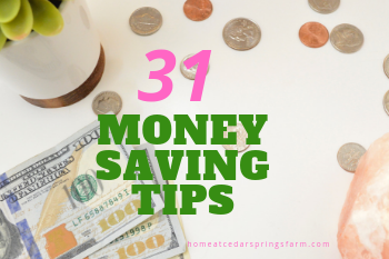 31 Money Saving Tips