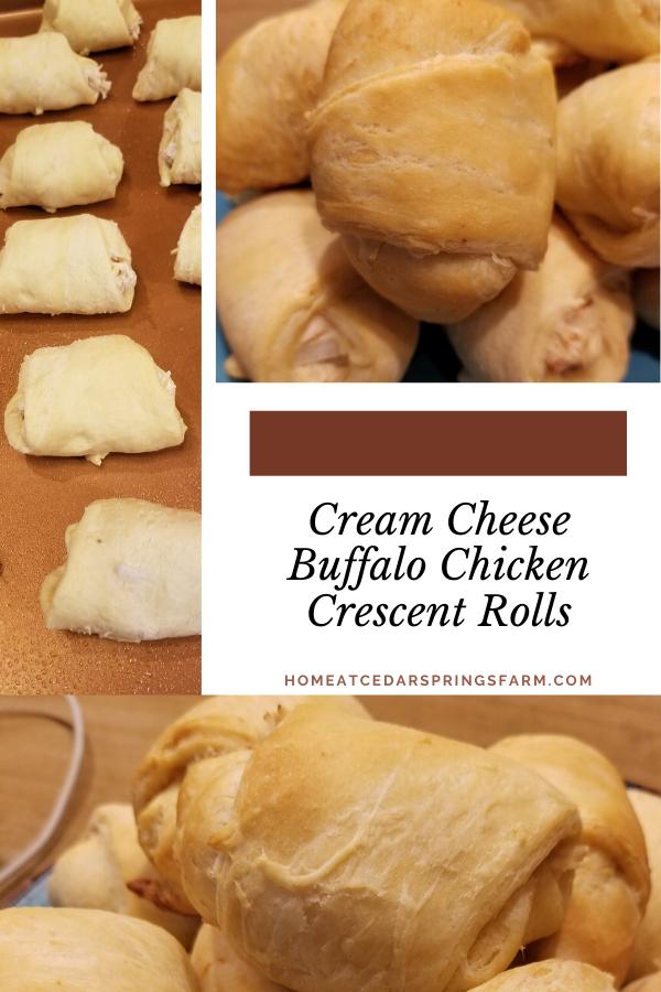 Cream Cheese Buffalo Chicken Crescent Rolls