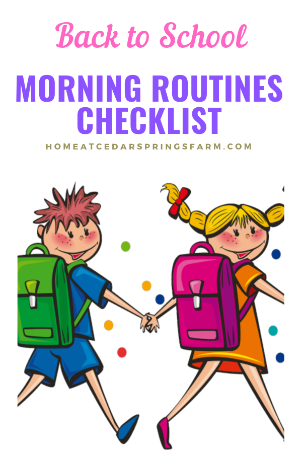Back To School Morning Routines Checklist