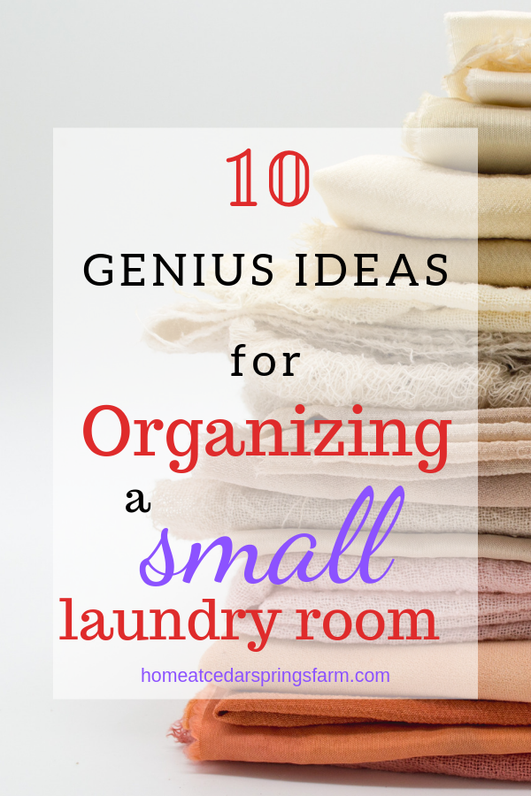 10 Ideas for Organizing a Small Laundry Room